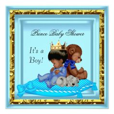 African American Baby Shower Blue Gold Boy Prince Invitations we are given they also recommend where is the best to buyDeals          African American Baby Shower Blue Gold Boy Prince Invitations Online Secure Check out Quick and Easy...