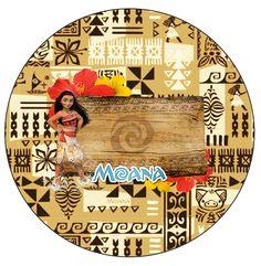 Rótulo Personalizado para latinha e toppers Moana