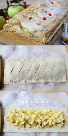 blechkuchen The easiest apple strudel that even a child can cook! Eat Me Drink Me, Food And Drink, Apple Strudel, Russian Recipes, Saveur, Cute Food, Deserts, Healthy Recipes, Bread