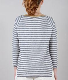 maglia con spalla raglan in lana merino   lavorazione maglia rasata bordi a coste