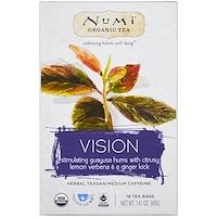 Numi Tea Organic Herb Tea - Vision - Case of 6 - 16 ctCountry of origin : USA, CaliforniaOrganic : YesGluten Free : YesGMO Free : YesSize : 16 CTPack of : Selling Unit : case Numi Organic Tea, Organic Herbs, Holly Tree, Vitamins For Women, Flower Tea, Tea Art, Simple Art, Natural Flavors, Herbalism
