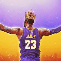 Lebron James Lakers Crown Poster or Canvas - Lebron James Lakers, Lebron James Poster, Lebron James 13, Kobe Lebron, Lebron James Wallpapers, Nba Wallpapers, Basketball Pictures, Basketball Players, Basketball Hoop