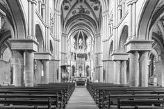 Grayscale Photo of Church  Free Stock Photo
