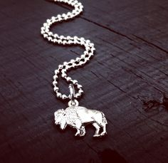 Mens Bucking Bronco Necklace Bronco Jewelry Rodeo Necklace
