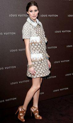 Olivia Palermo in Louis Vuitton dress at Louis Vuitton Maison opening in Munich