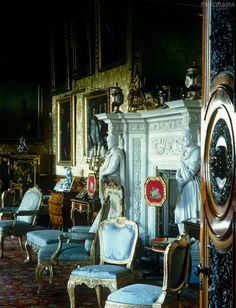 The Music Room, which was originally Robert Adam's saloon, was decorated in the Italian style by Salvin in the ~ Alnwick Castle Harewood House, Alnwick Castle, Amazing Buildings, English Style, Town And Country, Victorian Gothic, Inside Castles, Music Rooms, Architecture