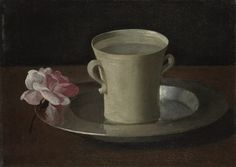 Francisco de Zurbarán - A Cup of Water and a Rose Oil on canvas National Gallery, London