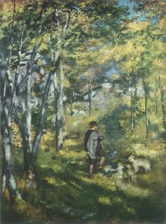 Pierre-August Renoir_Young Man in the Forest of Fontainebleau_1886 https://dashburst.com/david-goldberg/369