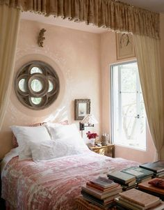 blush plaster walls. Mediterranean Style Home Decor - Mediterranean Decorating Ideas Photos - House Beautiful