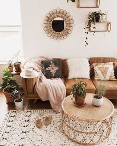 Timber Charme Tan Sofa - Home Professional Decoration Boho Living Room, Living Room Interior, Bohemian Living, Bohemian Homes, Bohemian Decor, Modern Bohemian, Cozy Living, Tan Sofa Living Room Ideas, Bohemian Design