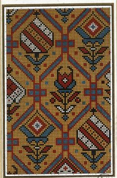 Gallery.ru / Фото #3 - старинные ковры и схемы для вышивки - SvetlanN Needlepoint Pillows, Needlepoint Stitches, Bead Loom Patterns, Cross Stitch Patterns, Diy Embroidery, Cross Stitch Embroidery, Tapestry Crochet, Cross Stitching, Rugs On Carpet