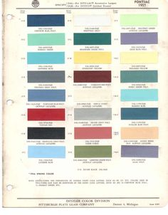 1957 studebaker color sample chips card oem colors