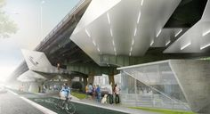 Buro Koray Duman finds uses for neglected space under elevated New York highway