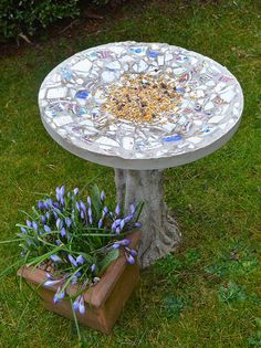 How To Make A Mosaic Bird Feeding Table