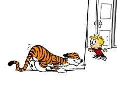Calvin And Hobbes, The Pounce (watch out, Calvin!)