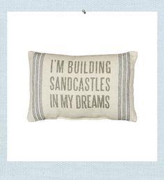 building sand castles beach pillow