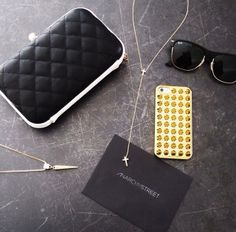 All the esentials for a great night, including the Double Cross and Pyramid Necklaces. #AnarchyStreet