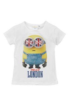 Cool Minions Bluse Hvid Minions Toppe til Børn & teenager i behagelige materialer
