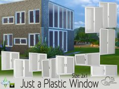 This set contains 20 new windows for your Sims. You get them in 4 different color options.  Found in TSR Category 'Sims 4 Construction Sets'