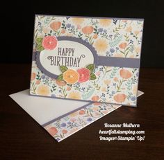 Stampin' Up! Daisy dsp, Happy Birthday Gorgeous