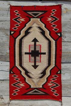 ca1920 GANADO HUBBELL CROSS NAVAJO RUG Native American Indian blanket Ranchfolks