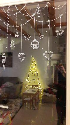 Christmas Doodles, Christmas Drawing, Christmas Mood, Christmas Window Display, Christmas Window Decorations, Christmas Chalkboard, Christmas Inspiration, Christmas Crafts, Advent