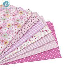 7 unids 50 cm * 50 cm de Color Rosa 100% de Algodón para Coser DIY Quilting Patchwork Niños Tejido Textil Ropa de Cama Tilda Muñeca de Trapo(China (Mainland))