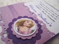 Disney Tangled Rapunzel Inspired, Handmade Purple Invitations Birthday. $2.40, via Etsy.