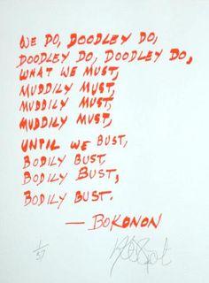 """""""we do, doodley do...""""  Kurt Vonnegut."""