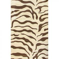 nuLOOM Safari Zebra Brown Contemporary Rug - D302ZEBBRN