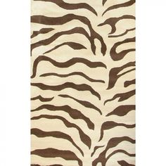 nuLOOM Safari Zebra Brown Contemporary Rug - D302ZEBBRN