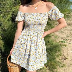 Hippie Outfits, Girly Outfits, Grunge Outfits, Cute Casual Outfits, Pretty Outfits, Pretty Dresses, Casual Dresses For Teens, Teen Summer Dresses, Floral Dress Outfits