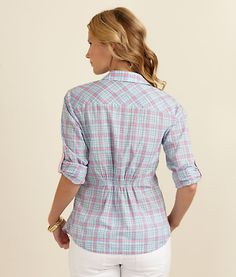 fitted plaid shirts... it's about time