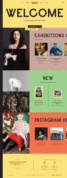 Frans Hals Museum: Color- and playful Webdesign by Dutch Design Studio KesselsKramer Website Design Layout, Website Design Inspiration, Layout Design, Web Layout, App Design, Museum Branding, Minimal Web Design, Graphic Design, Museum Poster