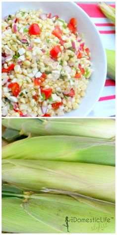 Corn and tomato salsa is easy to make and bursting with flavor. Perfect for a summer barbecue.