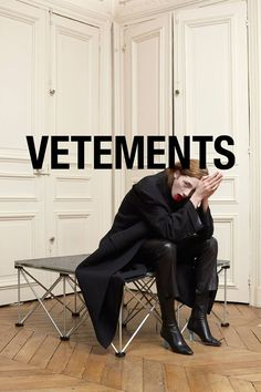 Get to Know Designer Vetements - theFashionSpot - Get to Know Designer Vetements – theFashionSpot Get to Know Vetements, Best Emerging Designer Nominee for the tFS Style Awards 2014 Fashion Mode, Fashion Shoot, Editorial Fashion, Street Fashion, Fashion Brands, Demna Gvasalia Vetements, Fashion Advertising, Advertising Campaign, Cat Walk