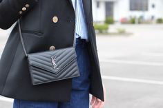 Saint Laurent Evelope WOC Wallet Bag Street Style - YSL WOC