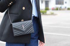 Saint Laurent Evelope WOC Wallet Bag Street Style - YSL WOC
