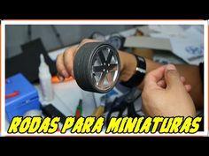 Como fazer rodas para miniaturas passo a passo - YouTube
