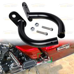 US Shallow Cut Saddlebag Guard Latch Covers For Harley Touring FLHX 14 15 16 17
