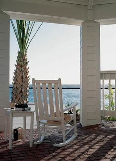 Gotta have a rocking chair on the porch to complete the beach house vibe.