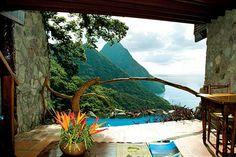 Honeymoon destination #1...Ladera Resort, St. Lucia