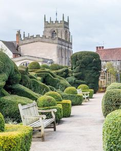 Magical garden at Shakespeare's New Place, Stratford-upon-Avon, England