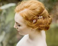Add a Rose Gold & freshwater pearl touch to your wedding hair style with the beautifully simple Rose Vine Mini Hair Clips. Wedding Hair Clips, Bow Hair Clips, Rose Gold Accessories, Hair Accessories, Wedding Accessories, Rose Vines, Simple Rose, Mini Roses, Rose Gold Hair