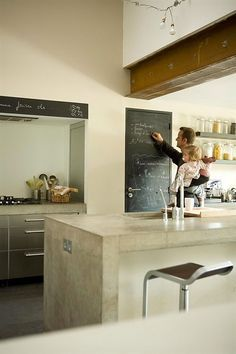 Concrete kitchen bench