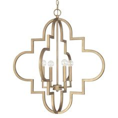 Ellis 4-light Pendant in Brushed Gold finish - Overstock™ Shopping - Great Deals on Capital Lighting Chandeliers & Pendants
