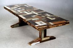 Not a fan of all the various scrapwood furniture (at all), but I do love this table by Piet Hein Eek. Diy Dining Room Table, Diy Table, Wood Table, Reclaimed Wood Furniture, Wooden Furniture, Furniture Design, Furniture Ideas, Recycled Furniture, Eindhoven