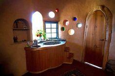 cobb house bathroom   Cob Bathrooms
