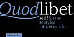 Quodlibet Serif - Webfont & Desktop font « MyFonts