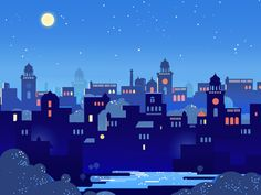 Starry Nights by ranganath krishnamani #CityVector